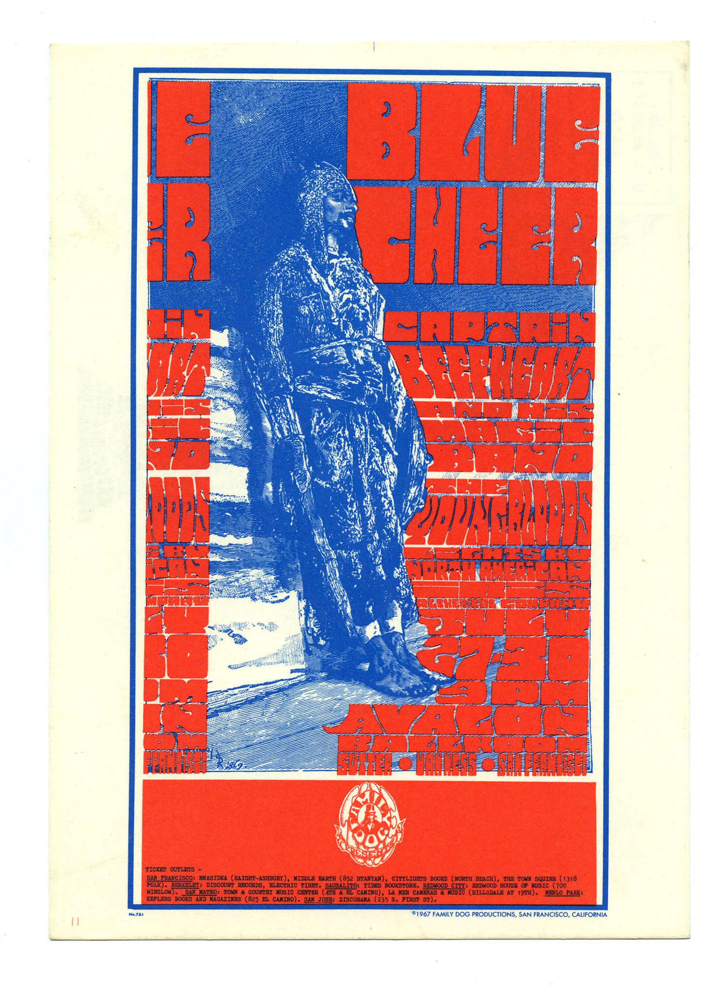 FD  73  Postcard Blue Cheer YoungBlood 1967 July 27