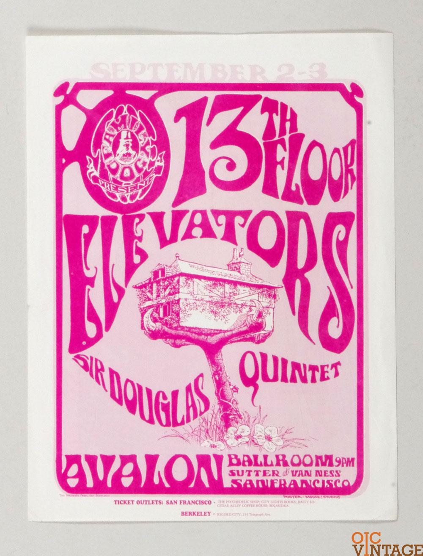 FD  24 Handbill 13th Floor Elevators 1966 Sep 2