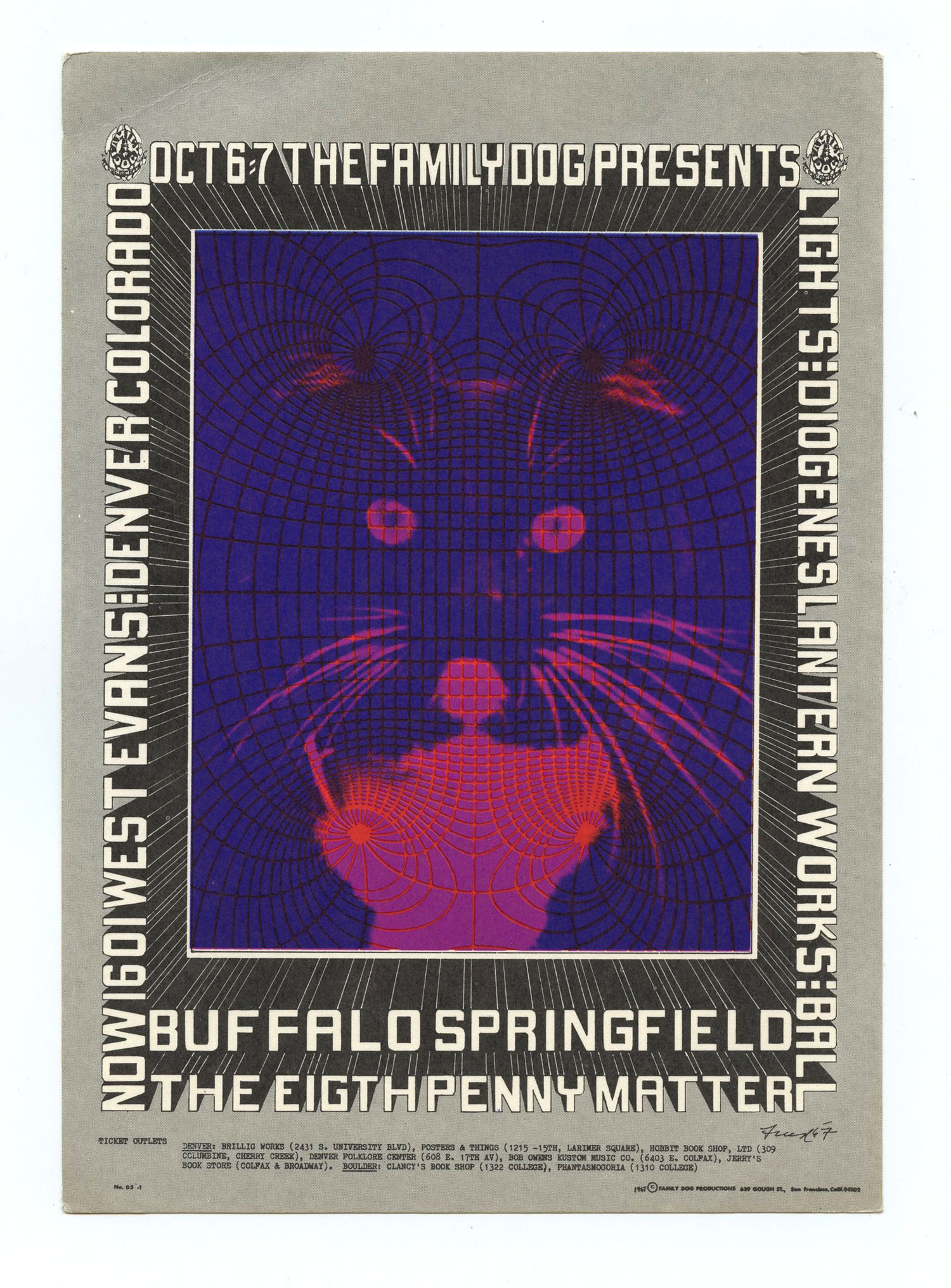 FDD  5 Postcard Buffalo Springfield 1967 Oct 6