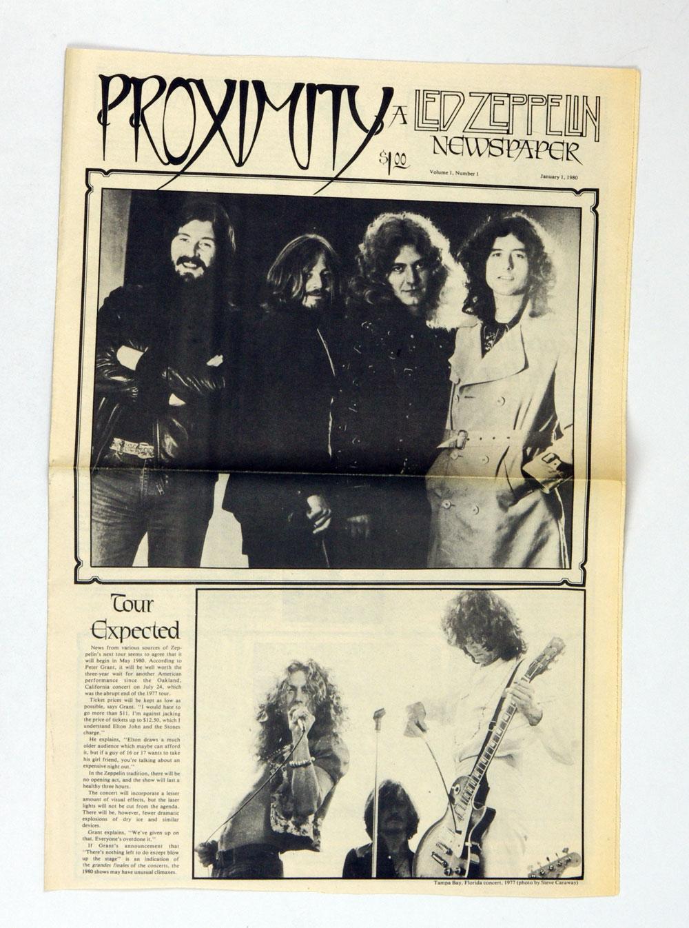 Led Zeppelin Fanzine Proximity Vol. 1 thru Vol 8 Complete Set 1980 thru 1981