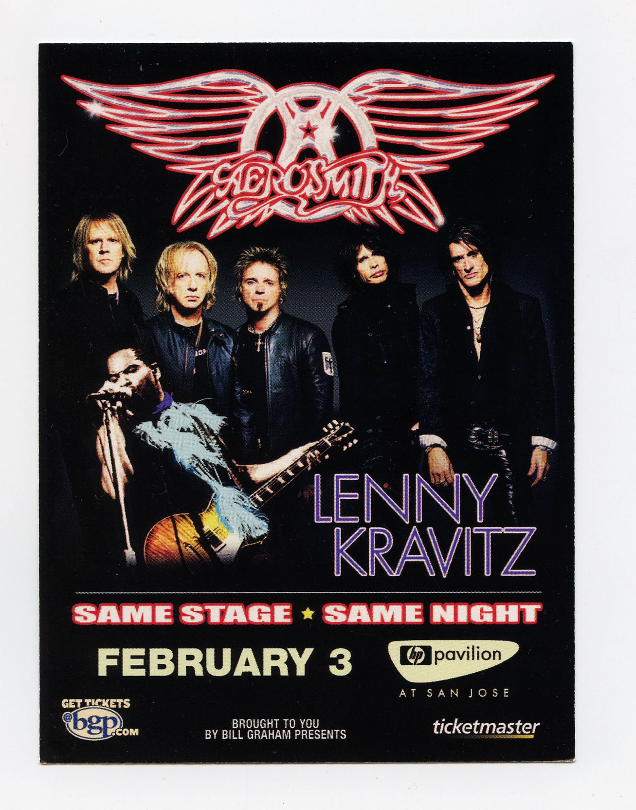 Aerosmith Handbill 2006 Feb 8 San Jose Oakland