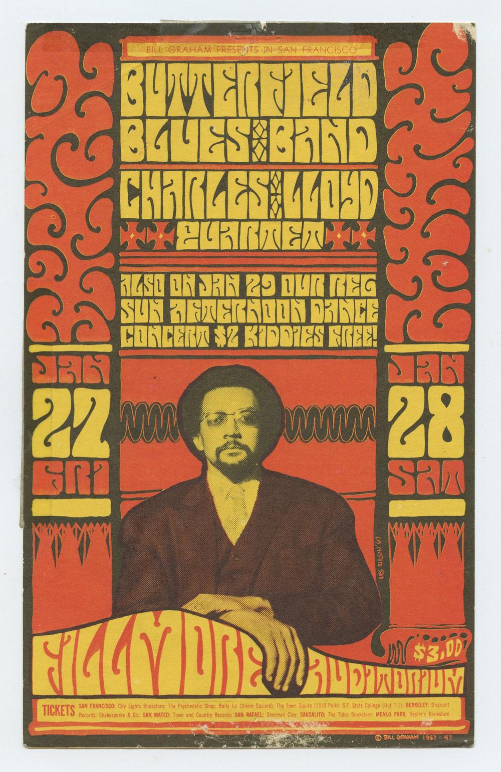 BG  47 Postcard Butterfield Blues band 1967 Jan 27 Fine
