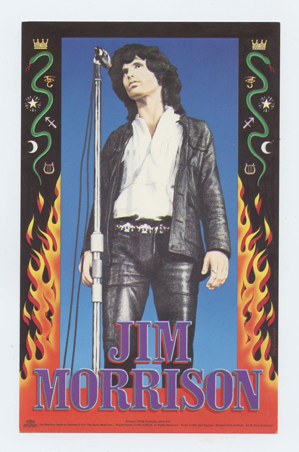 Jim Morrison Postcard 1991 Poster Sale Promotionrock