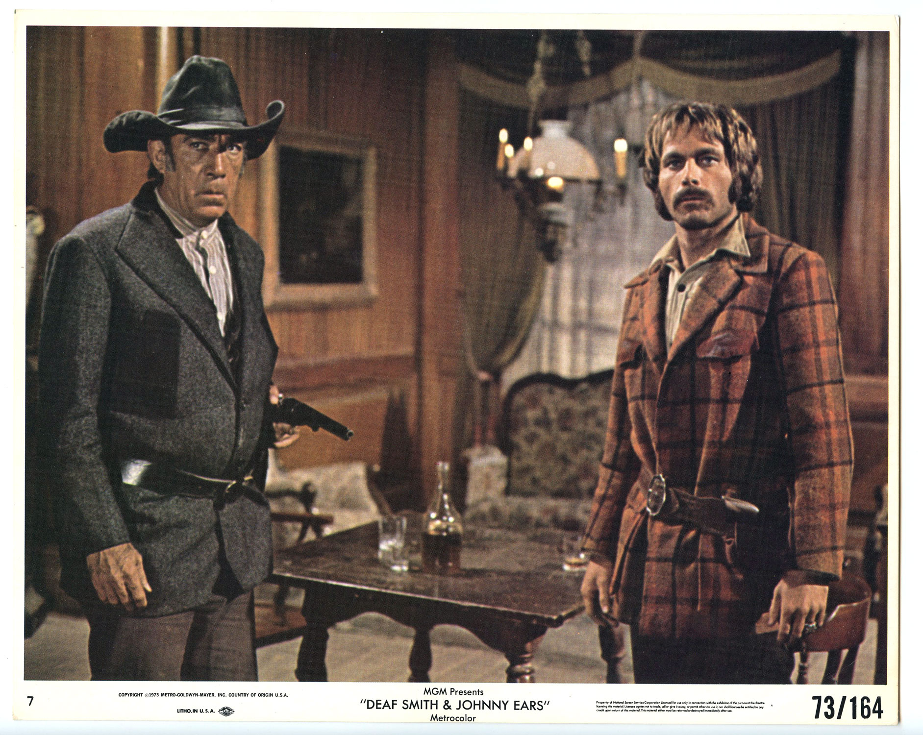 Anthony Quinn Franco Nero Photograph 1973 Deaf Smith and Johnny Ears Original Vintage