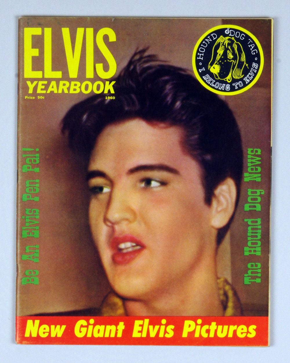 Elvis Presley Yearbook Hound Dog Tag Published 1960