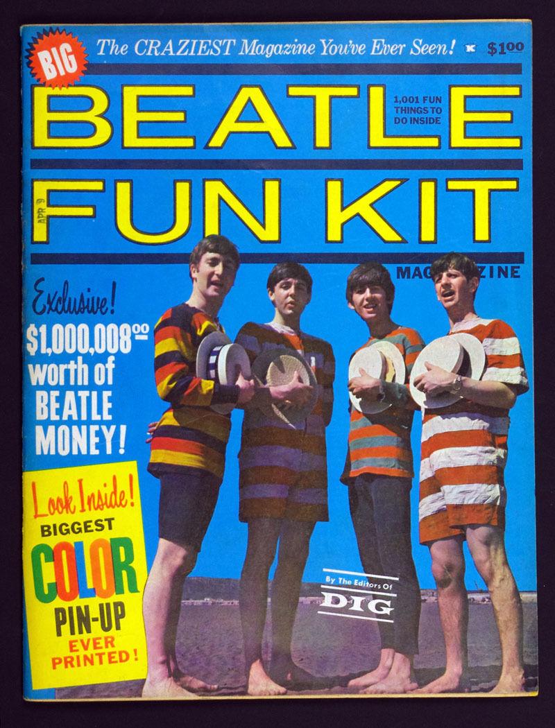 The Beatles Magazine 1964 BEATLE FUN KIT vintage collectible