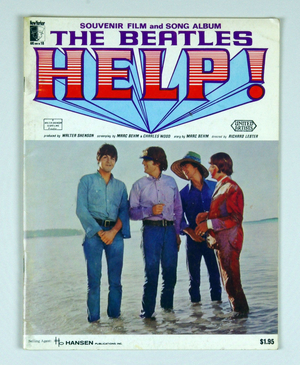 The Beatles song book HELP 1965 Souvenir Film and Song