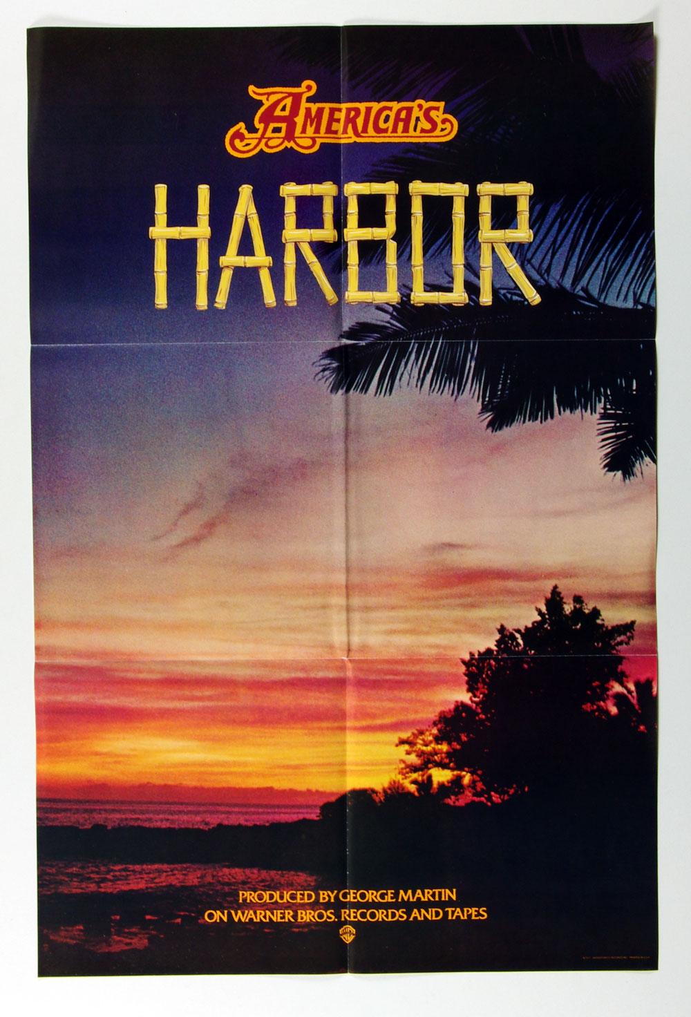 America Poster 1977 Harbor Album Promotion