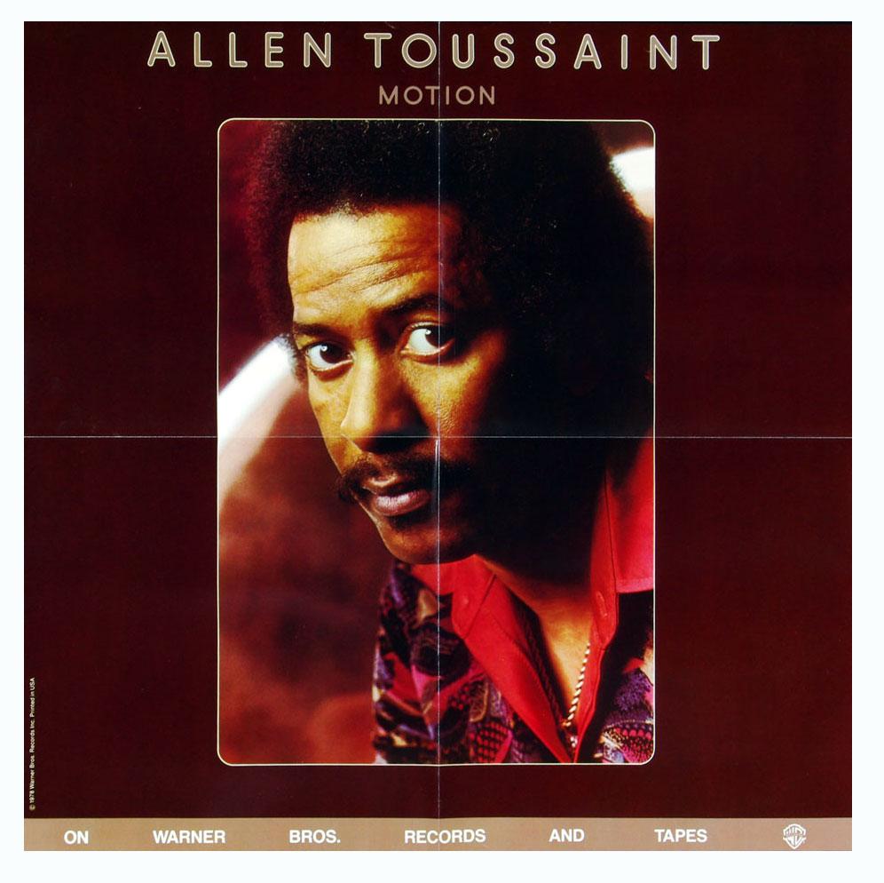 Allen Toussaint Poster 1978 Motion Album Promotion