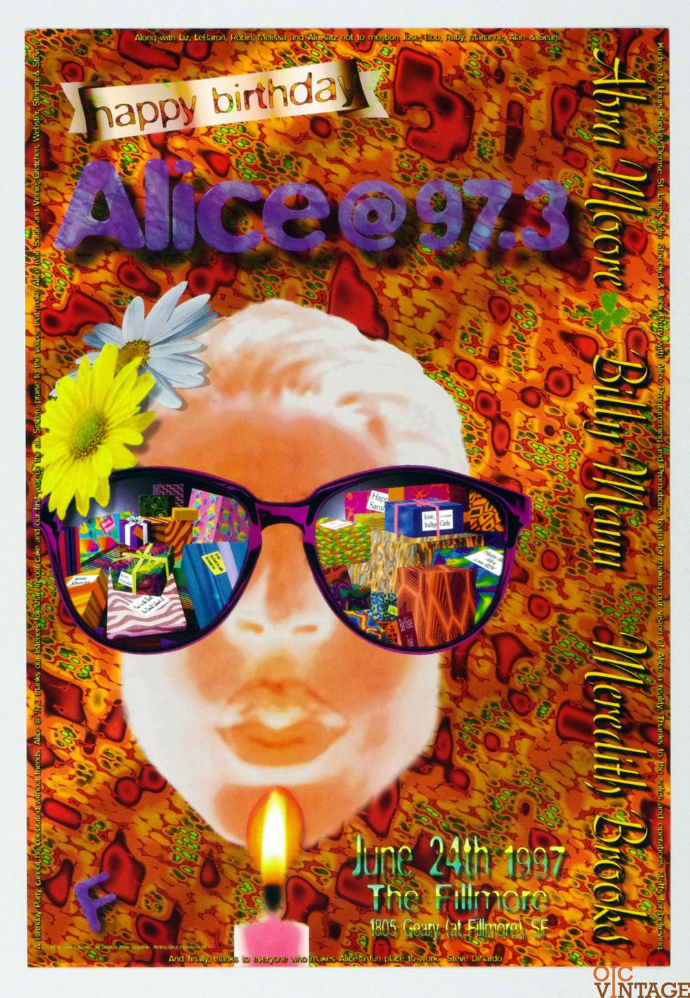 Abra Moore Meredith Brooks Poster 1997 Jun 24 New Fillmore San Francisco