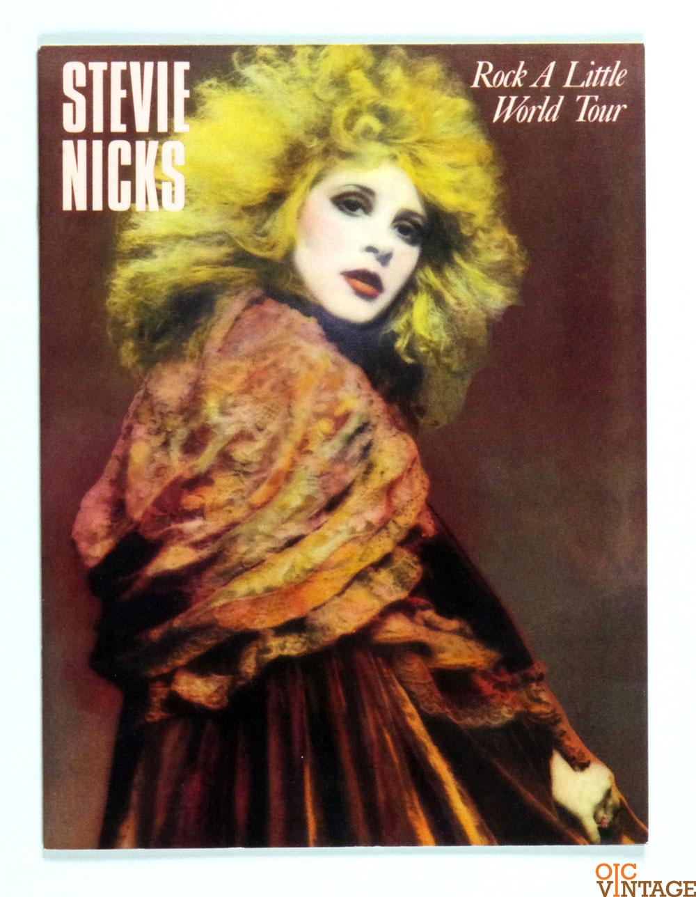 Stevie Nicks 1986 Rock A Little World Tour Program Book