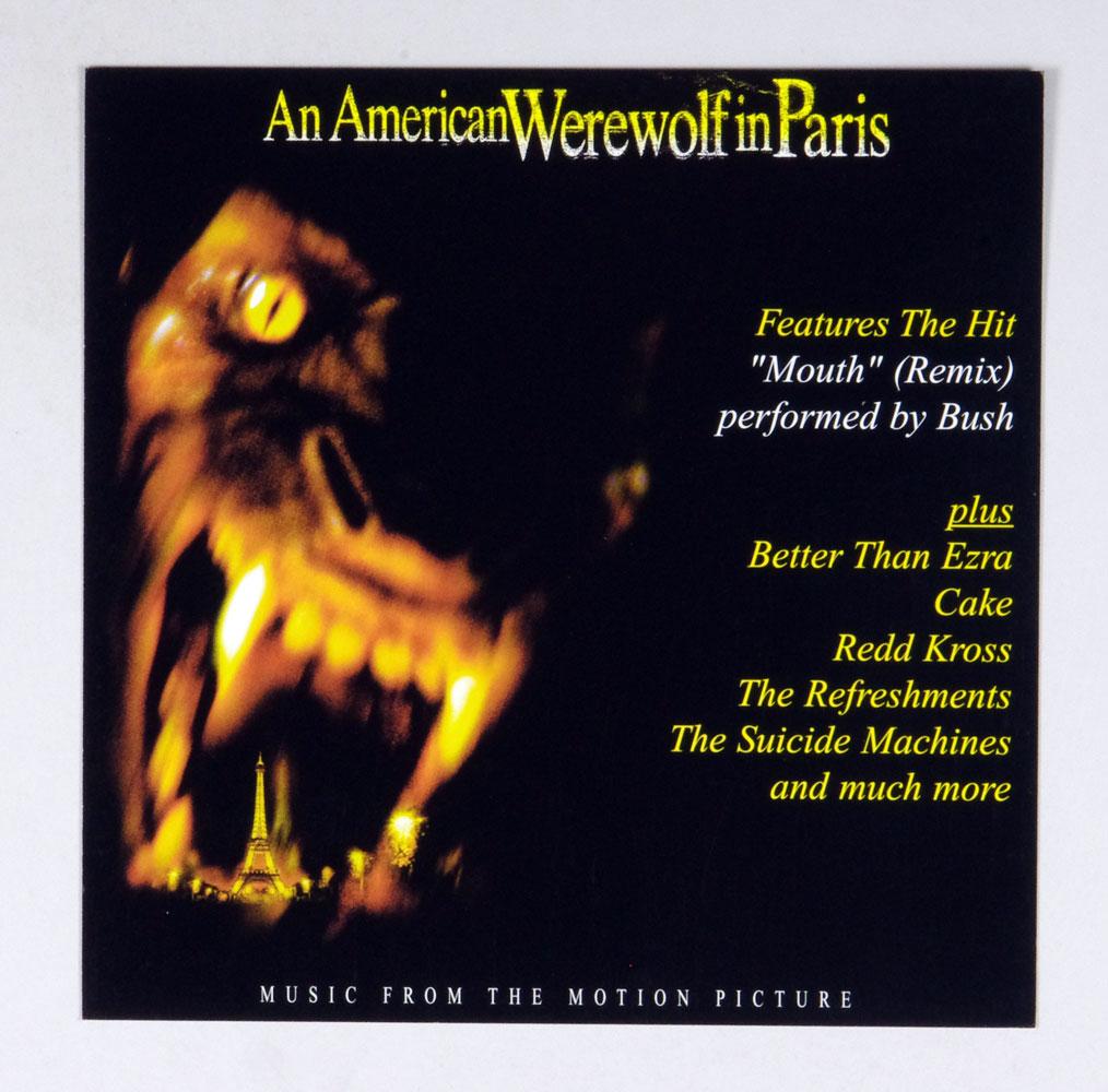 An American Werewolf in Paris Poster Flat 1999 Original Movie Soundtrack Album Release Promo 12 x 12