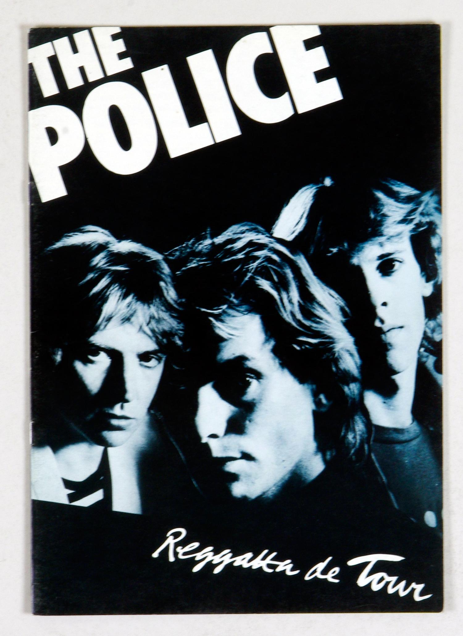 The Police 1979 Reggatta De Blanc Tour Program Book