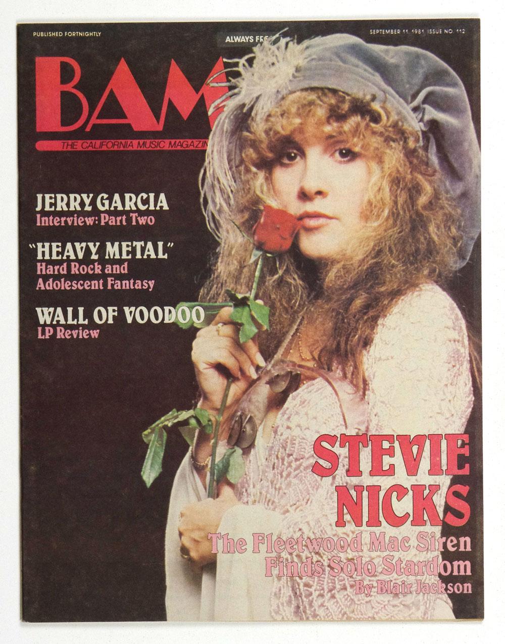 Stevie Nicks Magazine Back Issue BAM 1981 Sep 11 Jerry Garcia Interview