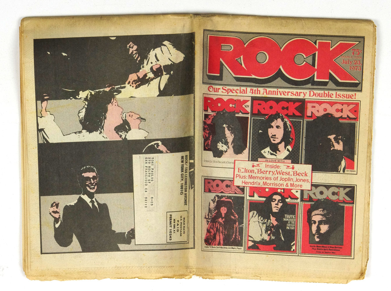 Rock Magazine 4th Anniversary Double Issue 1973 July 23