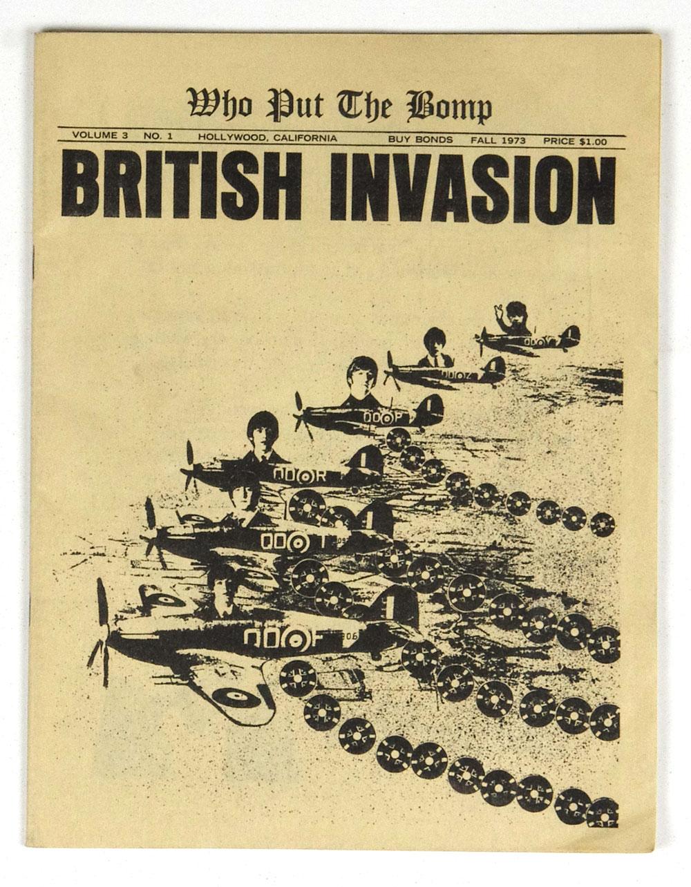 The Beatles Magazine Who Put The Bomb British Invasion 1973 Fall Greg Shaw