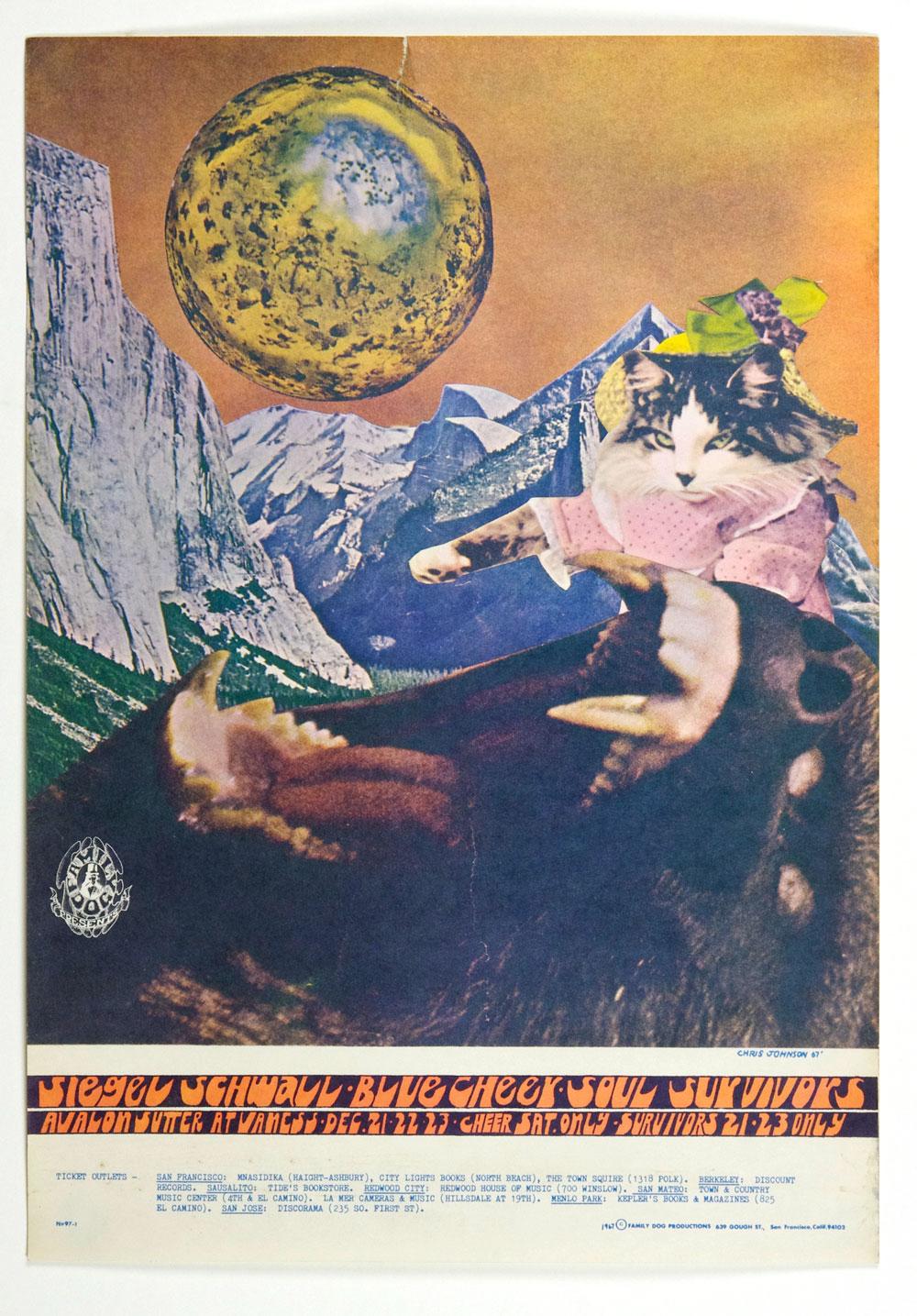 FD  97 Poster Siegal Schwall Blue Cheer 1967 Dec 21