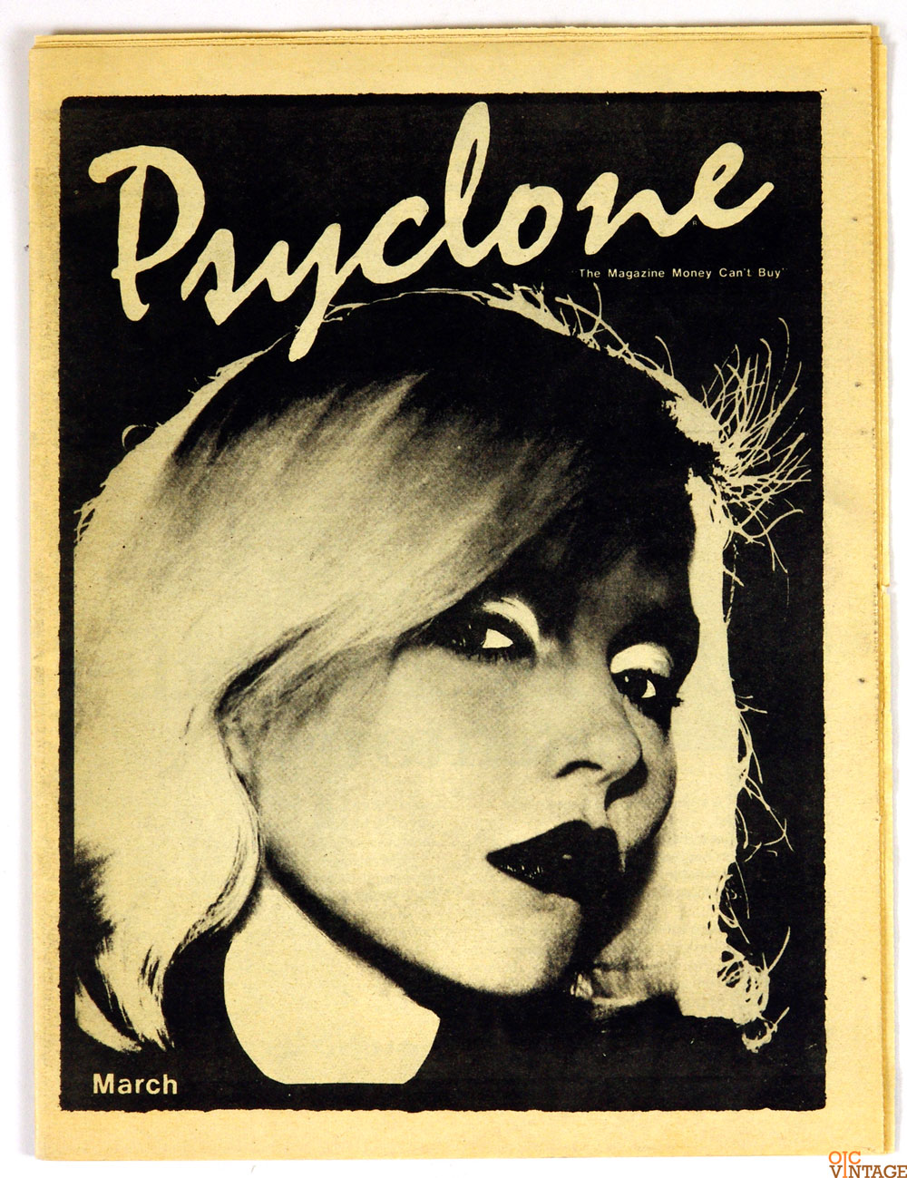 Blondie Cover Psyclone 1977 March Vintage Punk Magazine AOR 5.79