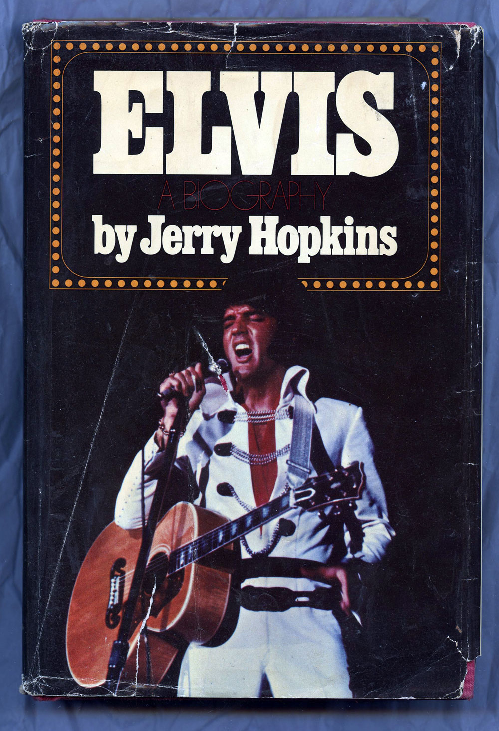 Elvis Presley Book A Biography Hard Cover First Edition 1971 Jerry Hopkins