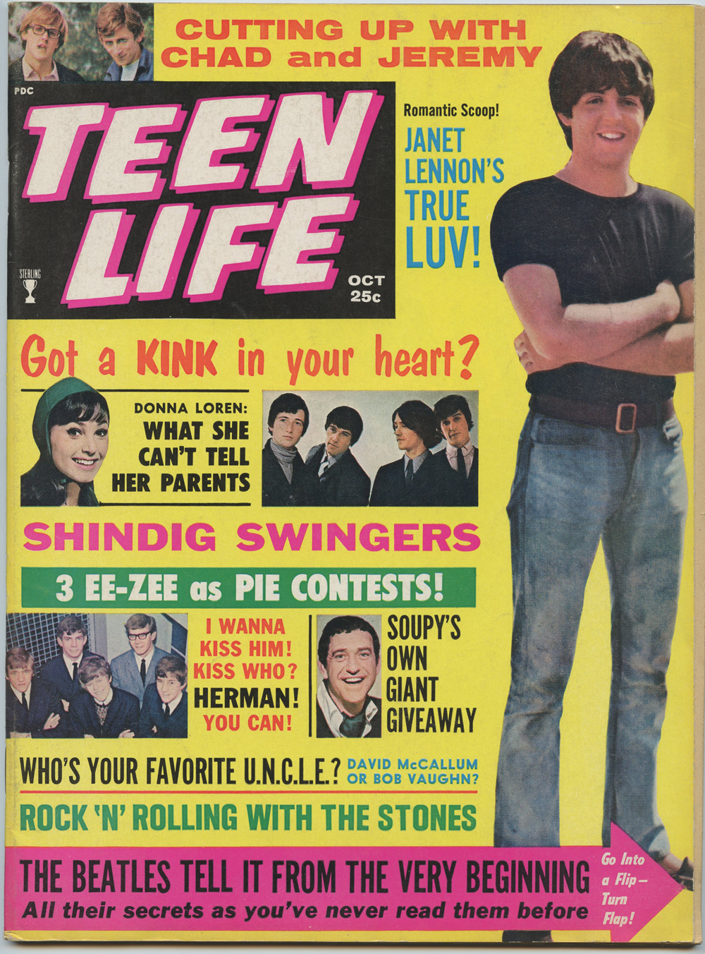 The Beatles Magazine Back Issue Teen LIFE 1965 Oct