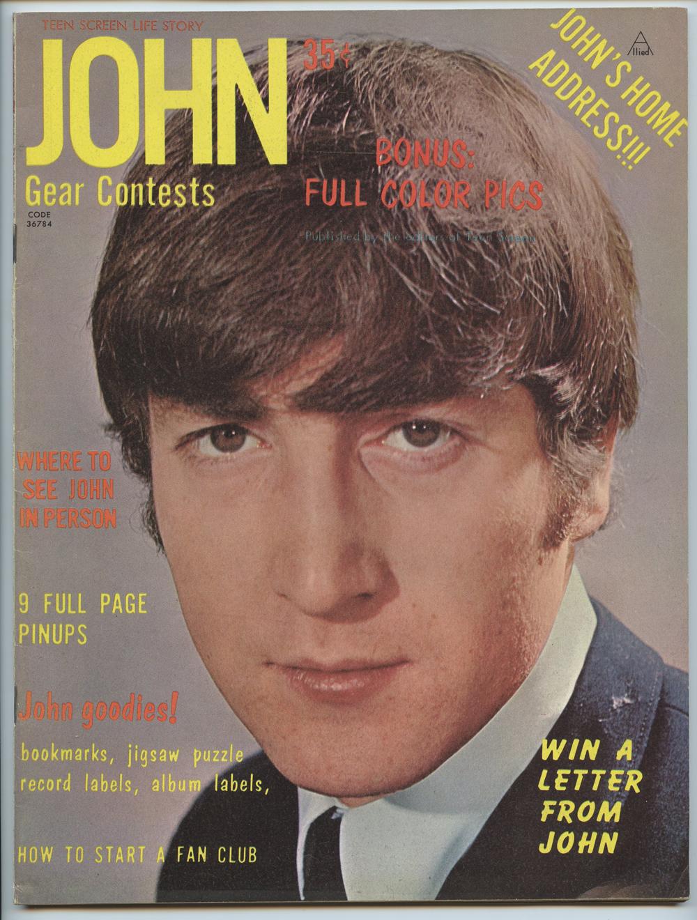 The Beatles Magazine Back Issue John Lennon Teen Screen Life Story 1964