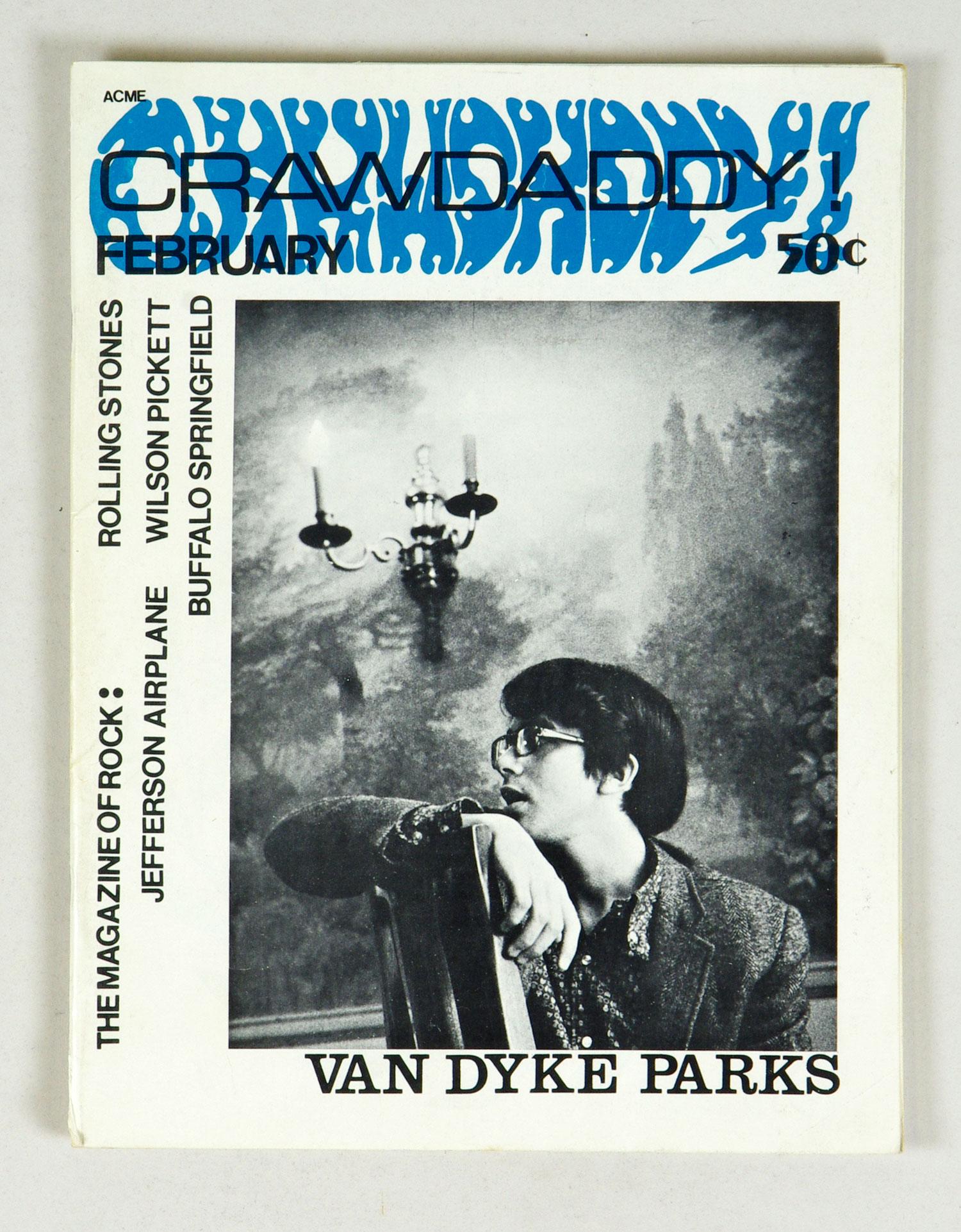 Crawdaddy The Magazine of Rock back issue 1968 February Van Dyke Parks
