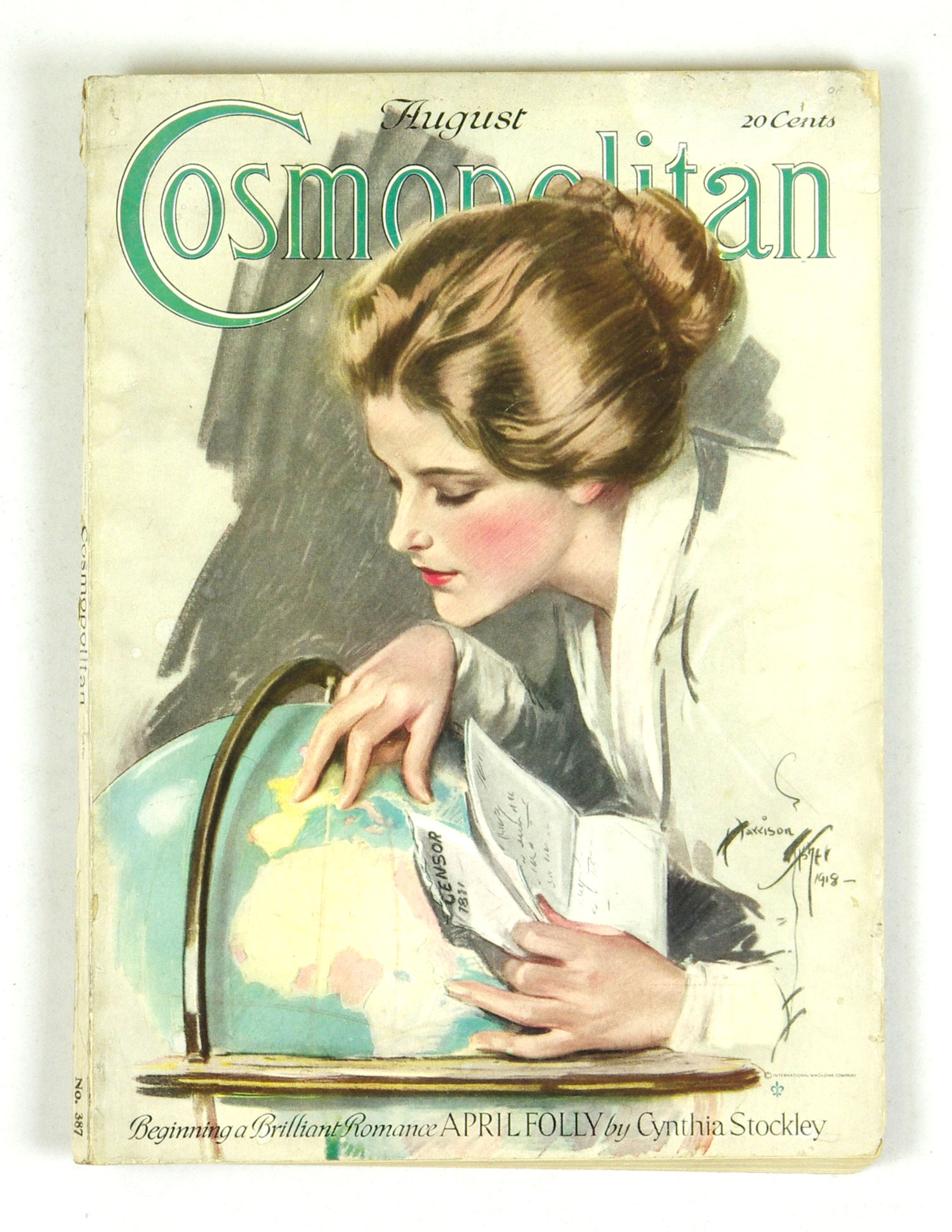 Cosmopolitan Back Issue 1918 Aug Somewhere In France