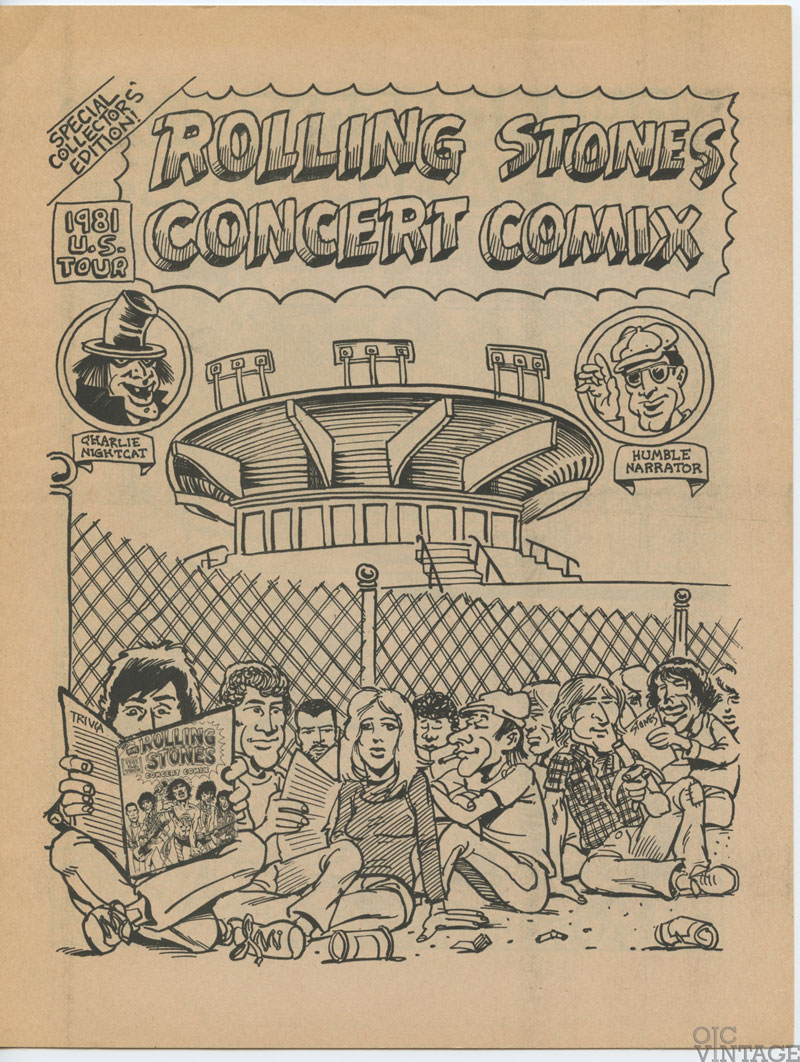 The Rolling Stones 1981 Tattoo You US Tour Special Collectors Edition Comix