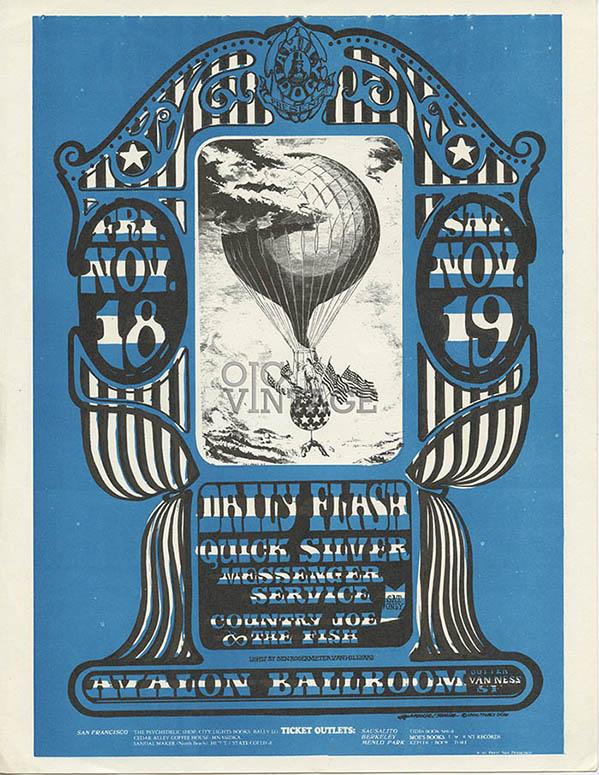 FD  35 Handbill Quicksilver Messenger Service 1966 Nov 18