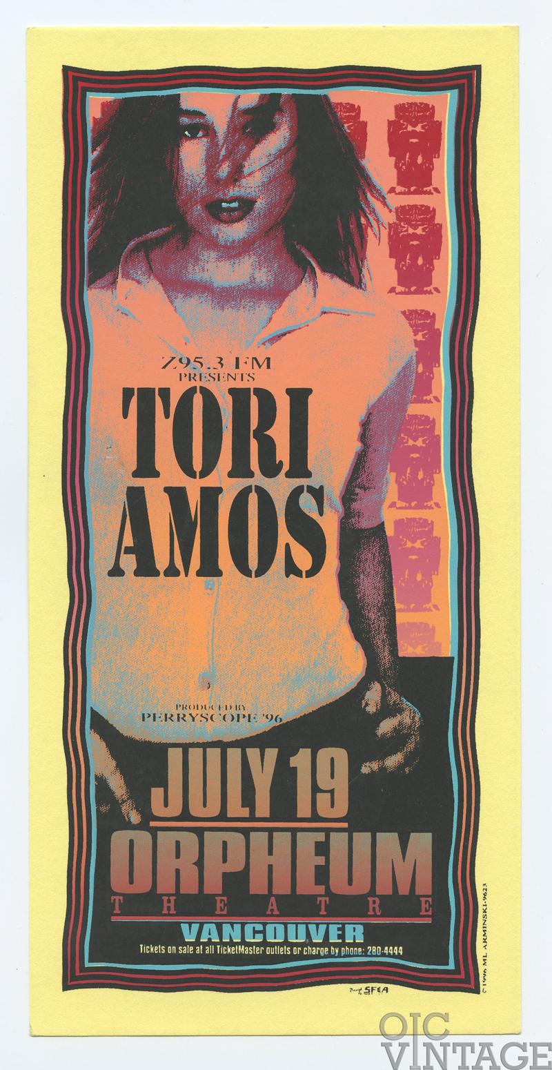 Tori Amos Handbill 1996 Jul 19 Orpheum Theatre