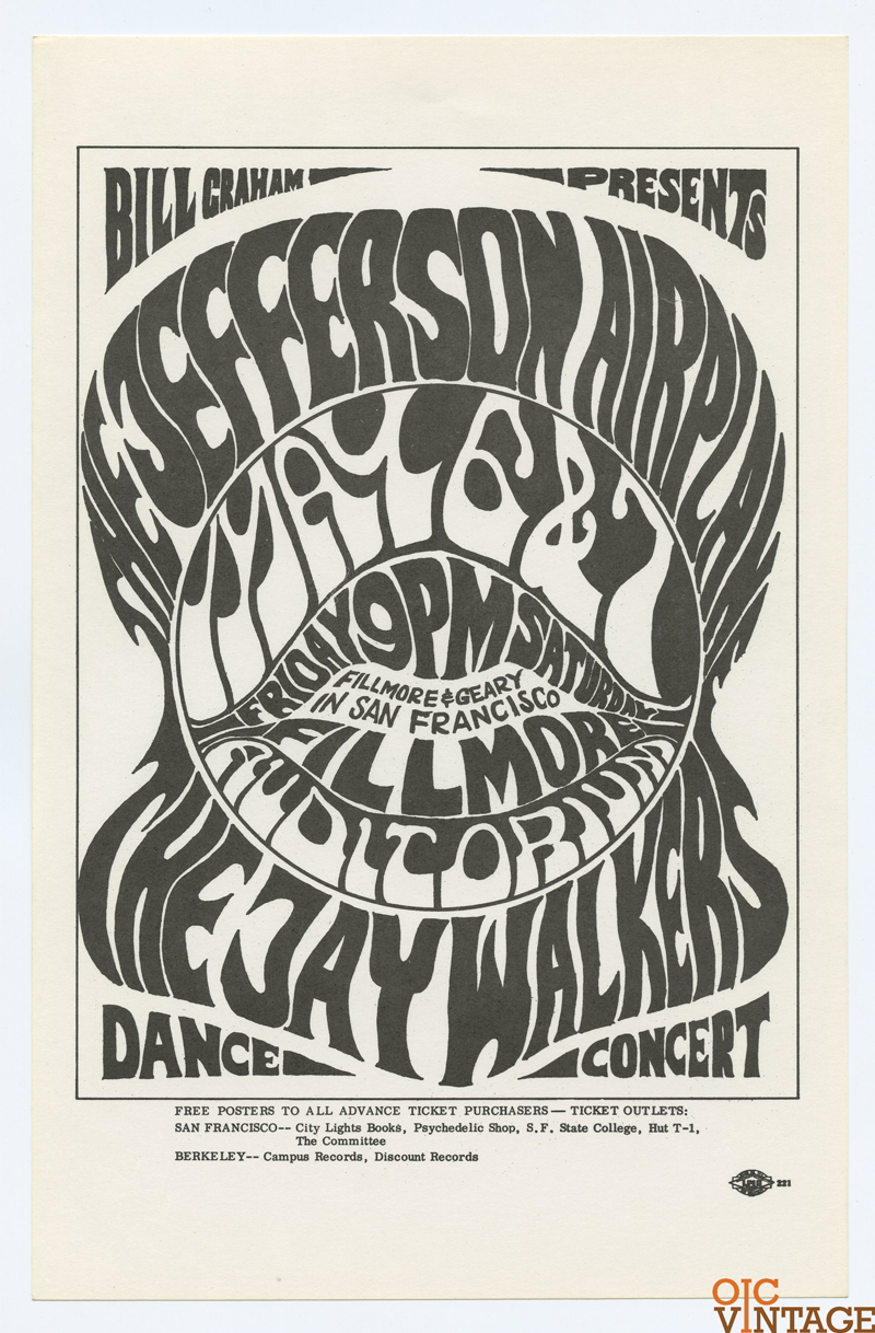 BG   5 Handbill Jefferson Airplane Jaywalker 1966 May 6