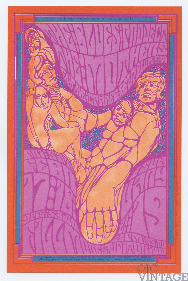 BG  50 Postcard The Blues Project Mothers of Invention 1967 Feb 17