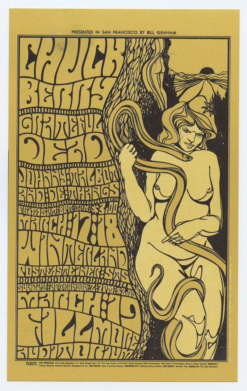 BG  55 Postcard Grateful Dead 1967 Mar 17