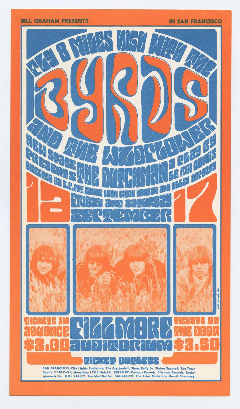 BG  28 Postcard The Byrds Wildflower 1966 Sep 16