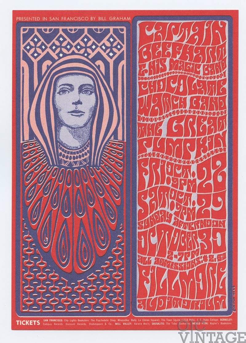 BG  34 Handbill Captain Beefheart & his Magic Band 1966 Oct 28