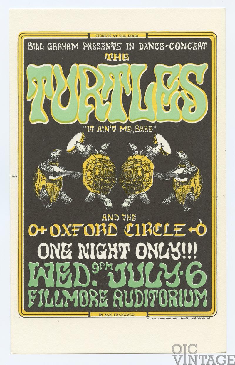 BG  15 Postcard Turtles Oxford Circle 1966 Jul 6