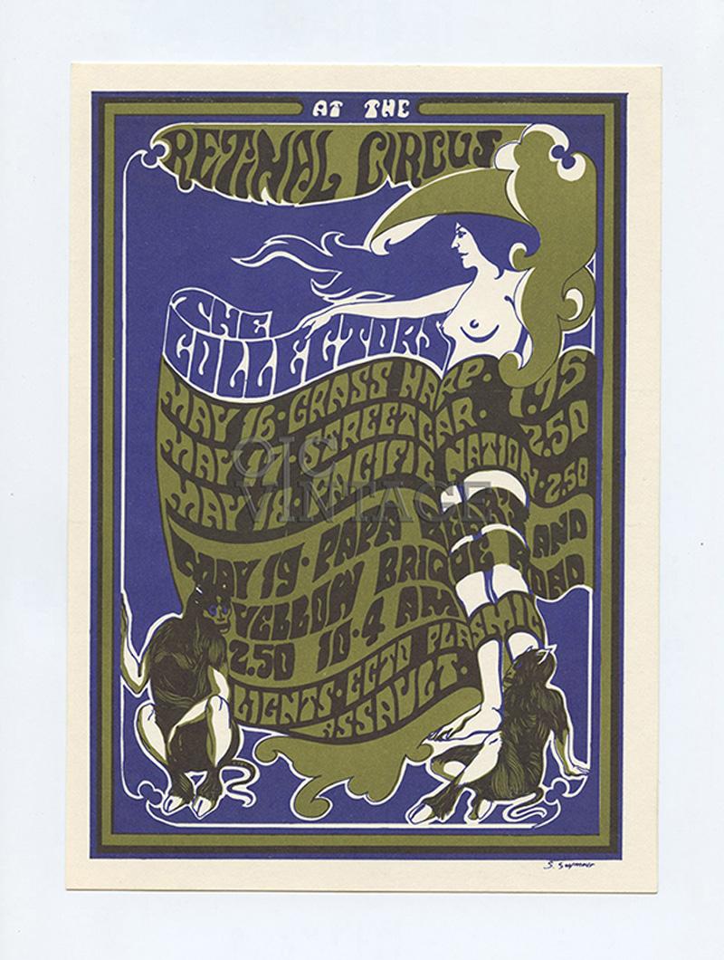Retinal Circus Postcard 1968 May 16 Collectors Grass Harp Streetcar Vancouver Canada