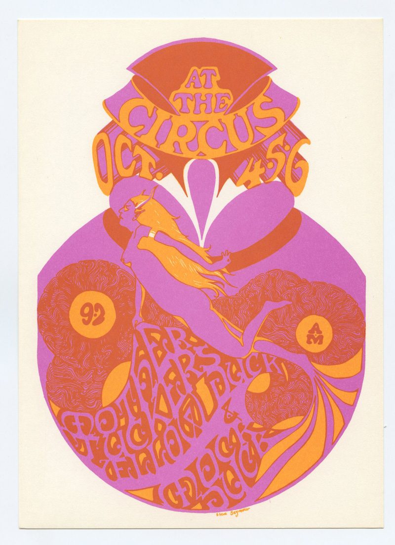 Retinal Circus Postcard 1968 Oct 4 Mother Tickers Mock Duck Vancouver Canada