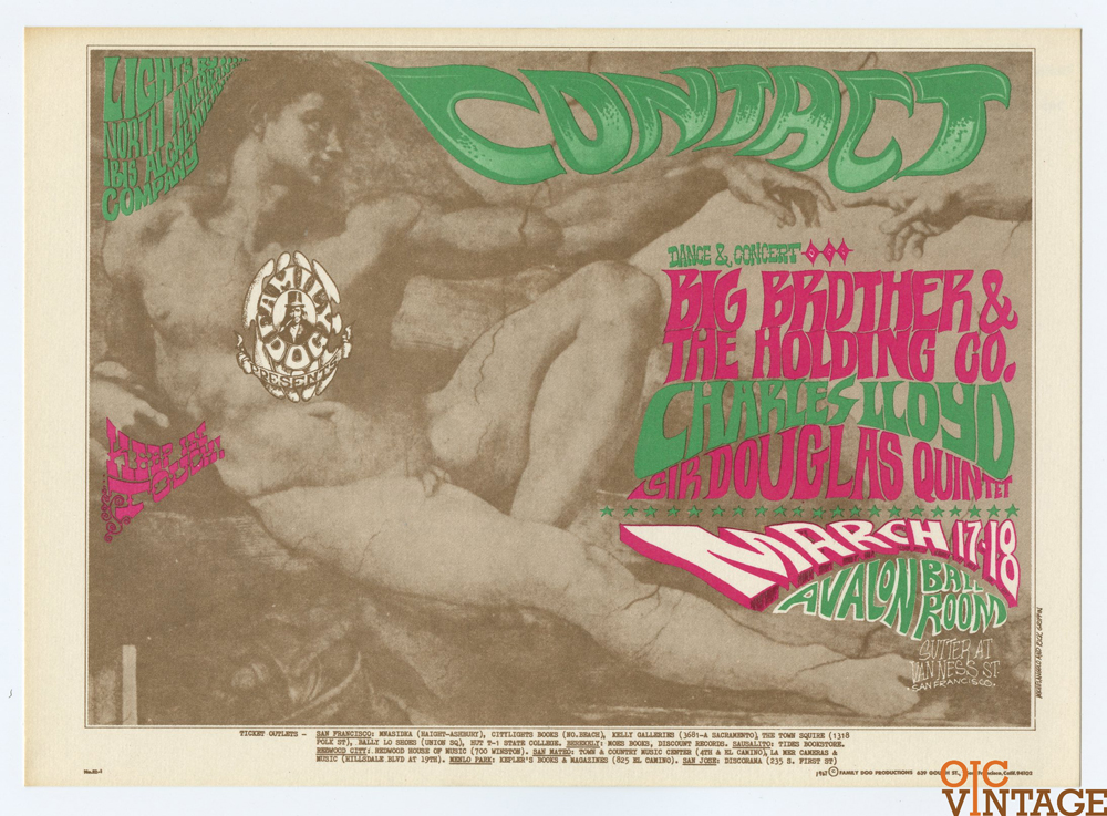 FD  52 Postcard Big Brother and the Holding Company 1967 Mar 17