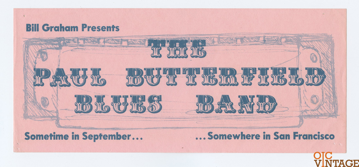 BG  29 Handbill Paul Butterfield 1966 Sep 23