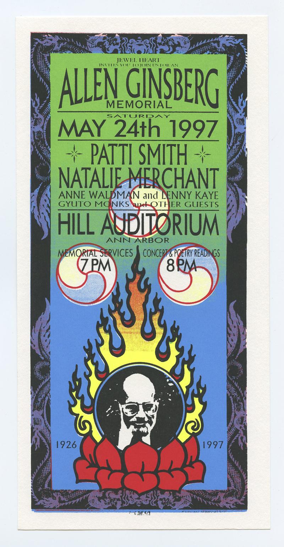 Allen Ginsberg Memorial Handbill 1997 May 24 Patti Smith and more