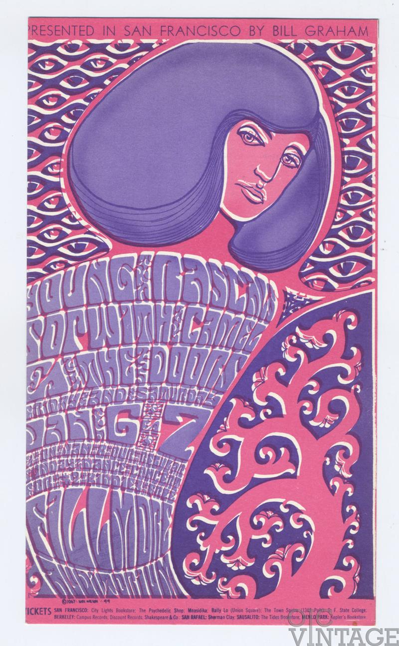 BG  44 Postcard The Doors Young Rascals 1967 Jan 6