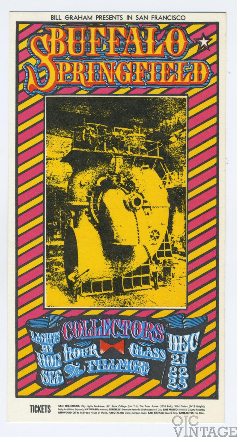 BG  98 Postcard Buffalo Springfield Collectors 1967 Dec 21