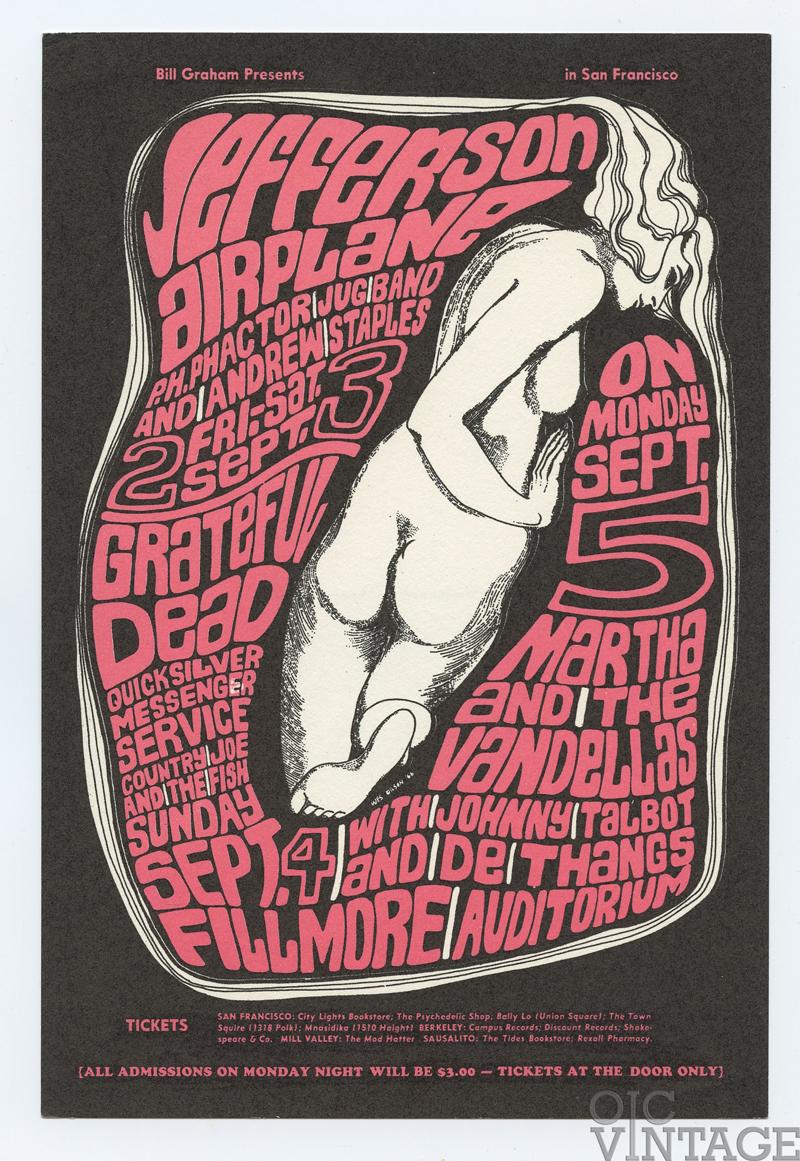 BG  26 Postcard Grateful Dead 1966 Sep 2