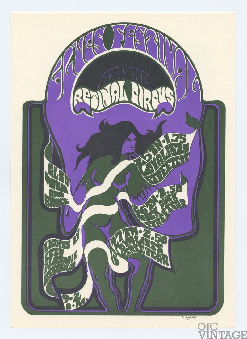 Retinal Circus Postcard 1968 Apr 25 The Loyalists Vancouver Canada