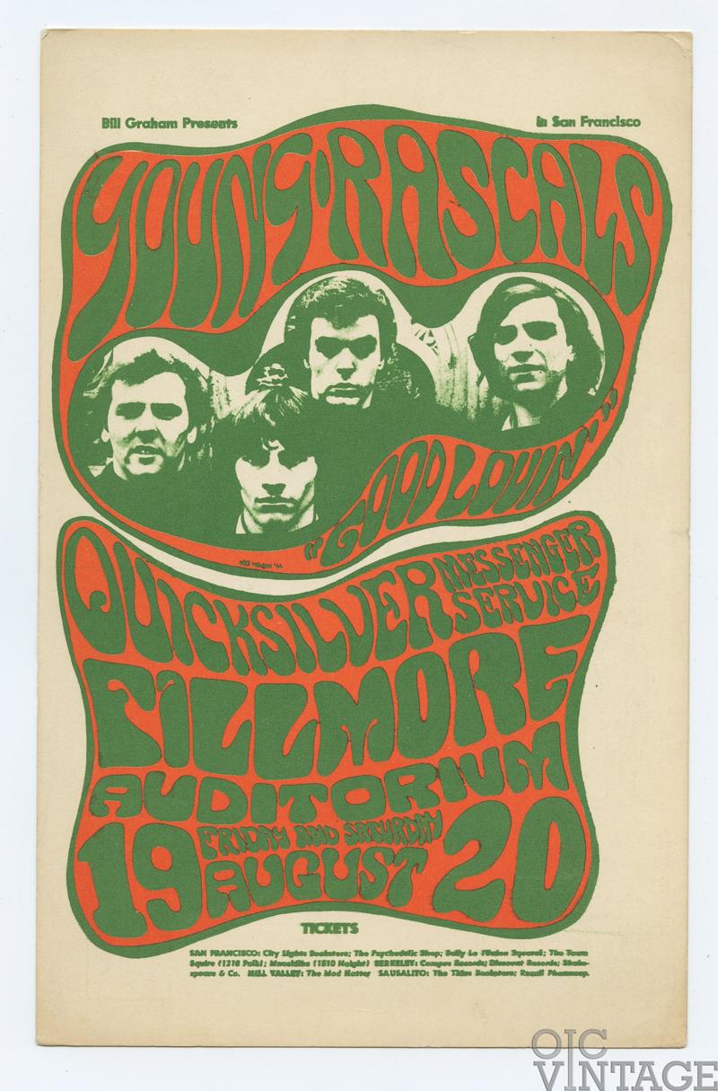 BG  24 Postcard Young Rascals 1966 Aug 19