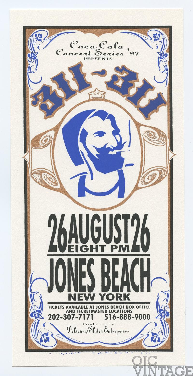 311 Handbill Jones Beach New York 1997 Aug 26 AOMR 080.5