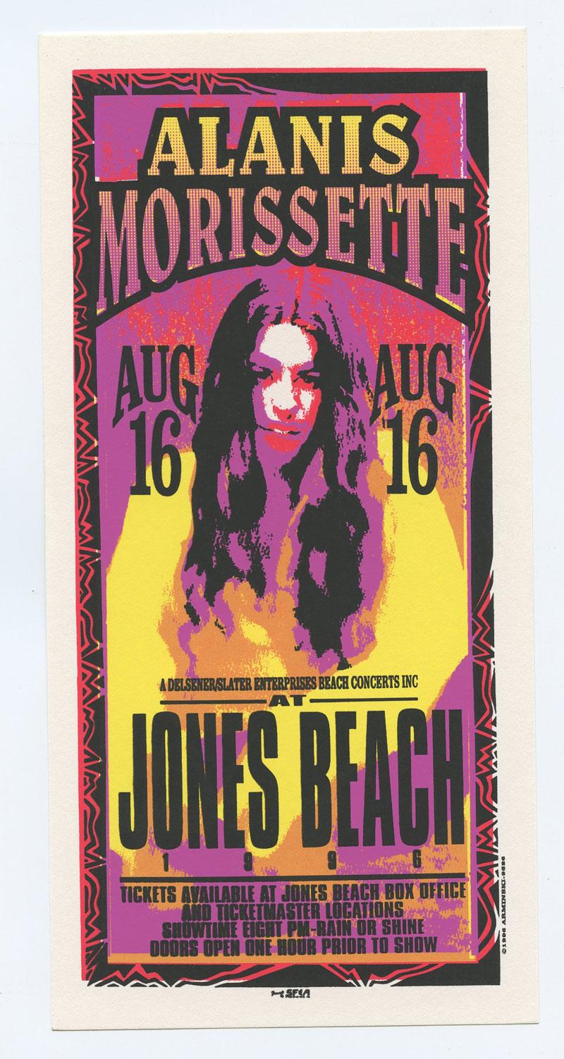 Alanis Morissette Handbill 1996 Aug 16 Jones Beach