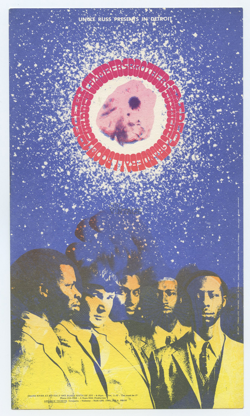 Grande Ballroom Postcard 1967 Dec 1 Chambers Brothers Children Tyme Up