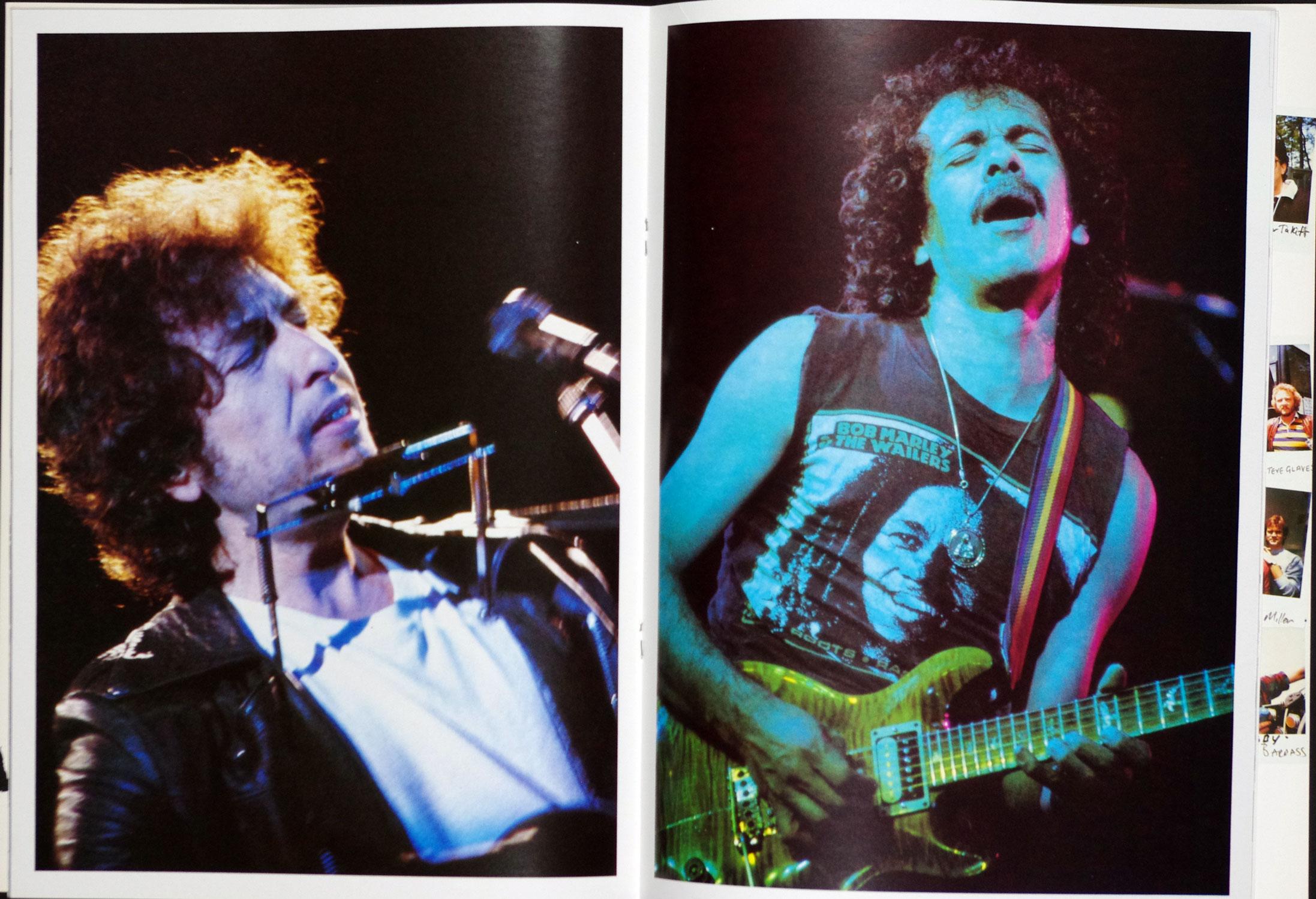 Bob Dylan Santana 1984 Europe Tour Program